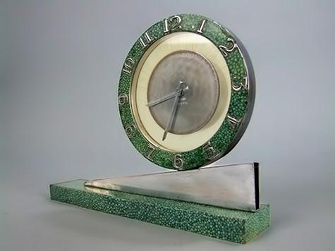 Faux-Shagreen-Clock art deco modernist jazz age