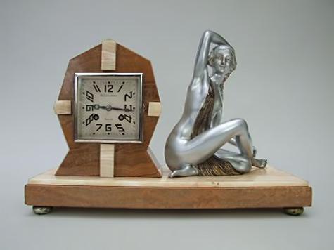 Limousin Lady Clock art deco