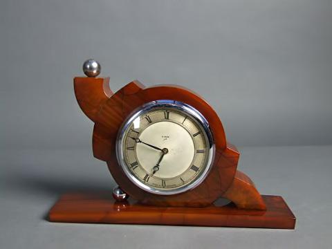 Modernist Cubist Elephant Mantle Clock