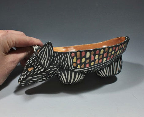 Shoshona-Snow-sgraffito bowl