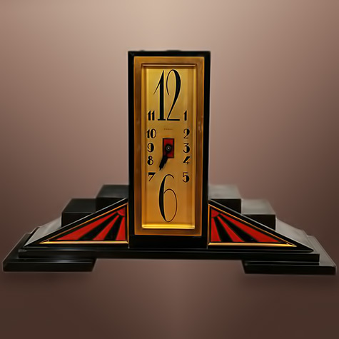 French Art Deco table clock