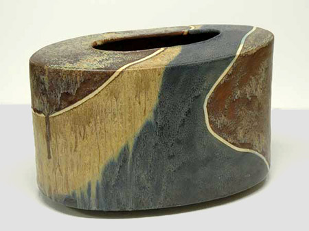 Jeff Mincham-oval-ceramic vassel