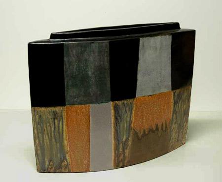 Jeff Minchem Vase with contemporary geometric  decoration