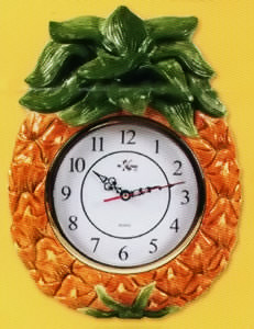 ceramic electric pineapple wall clock