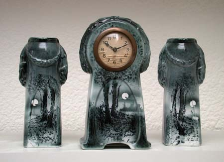 wittenberg ceramic mantle clock