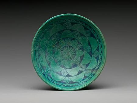 Egyptian turquoise bowl