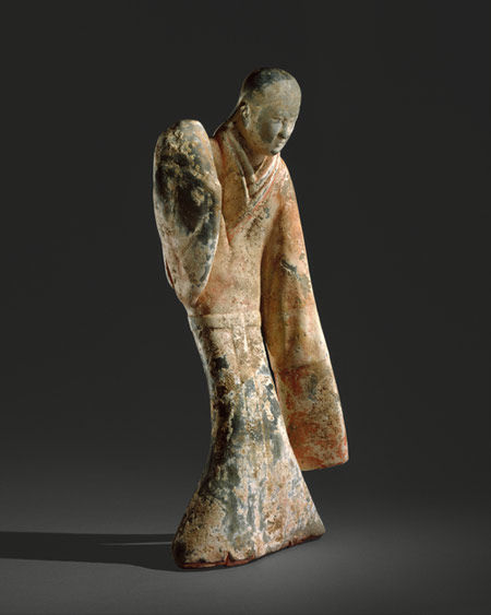 Tomb pottery figurine