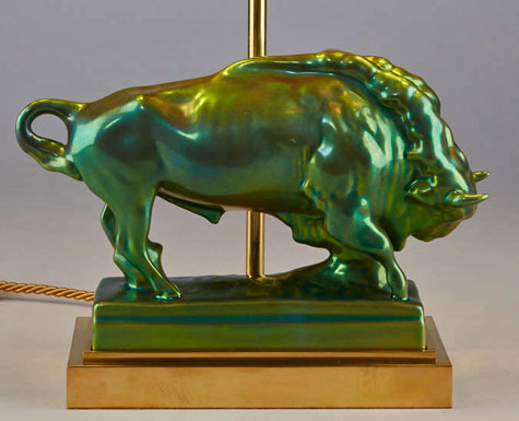 Table-Lamp-with-Taurus-Figurine-by-Zsolnay-at-1stdibs