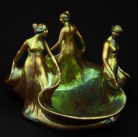 Zsolnay-Three-Graces---Pinter-Auctions