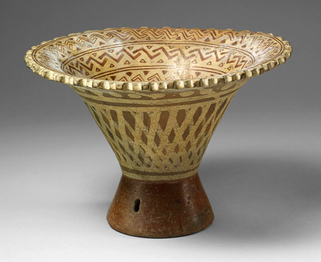 Flared Bowl, 6th–8th century Peru; Moche Ceramic