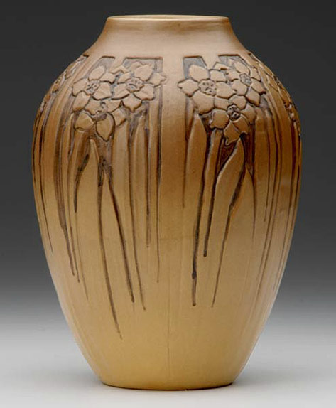 Art Nouveau vase with flower decoration