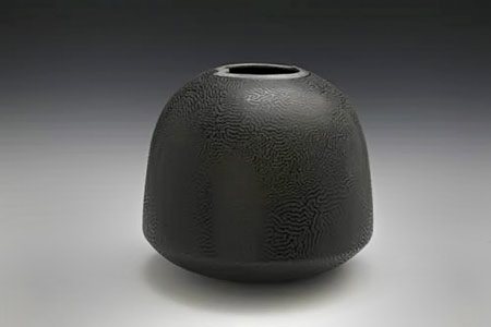 Black on Black Vessel