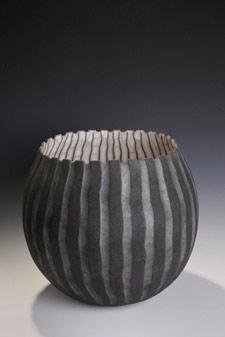 raku bowl by David Roberts