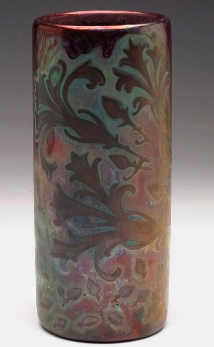 Weller Sicard cylindrical vase