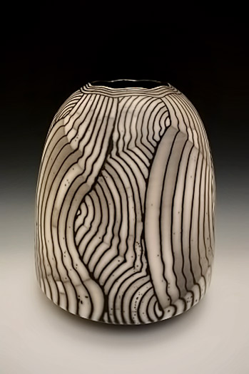 Large Weeping Landscape vessel by David Roberts