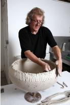 Large bowl handbuilt by David Roberts