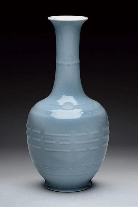 ''clair de lune'' porcelain vase