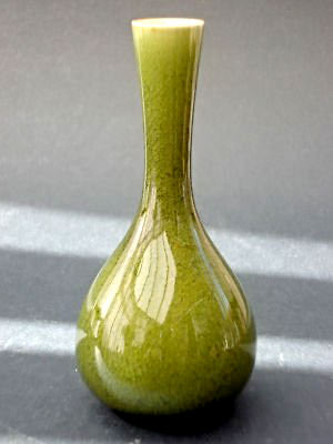 Linthorpe Art Pottery vase. Design - Christopher Dresser