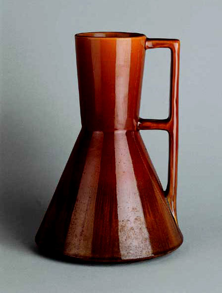 glazed earthenware  jug-C.Dresser