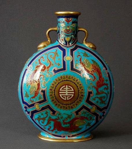 Christopher Dresser Porcelain Pilgrim Flask