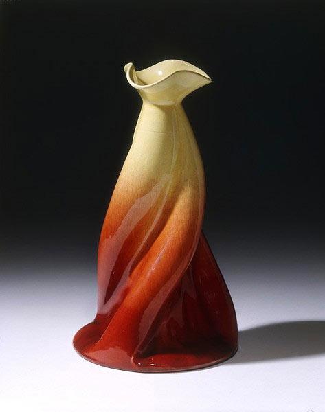 Vase. Design C.Dresser William Ault Pottery earthenware, moulded and glazed ( V & A Museum )