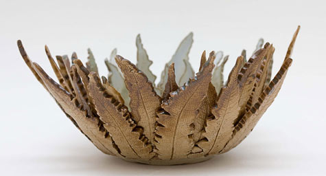 Joan Hardie ceramic leaf bowl