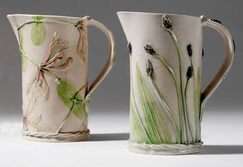 Mugs with botanical decoration - Sue Dunne