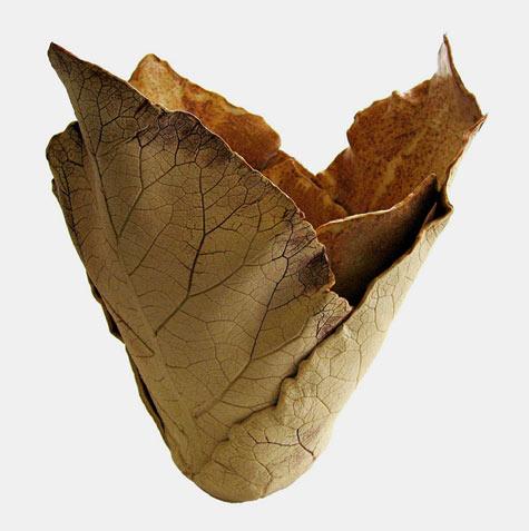 Leaf Inspired Vase Joan Hardie
