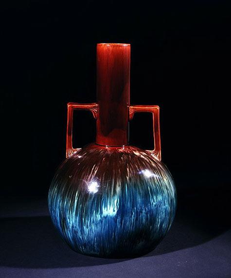 William Ault Pottery Vase C.Dresser design