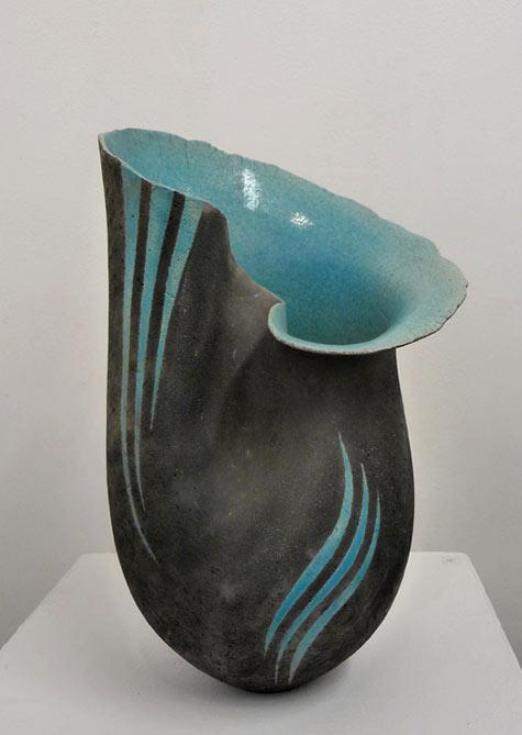 Black Raku Vase Juliet Blackman