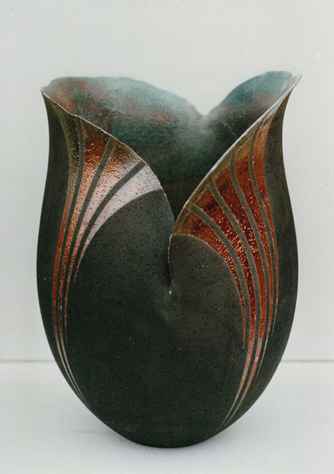 Juliet Blackman Raku Vase