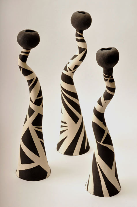 Ane Harworth Ceramic Candle Holders