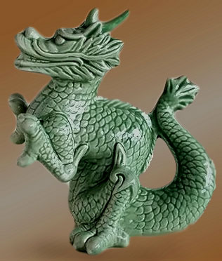 green ceramic dragon