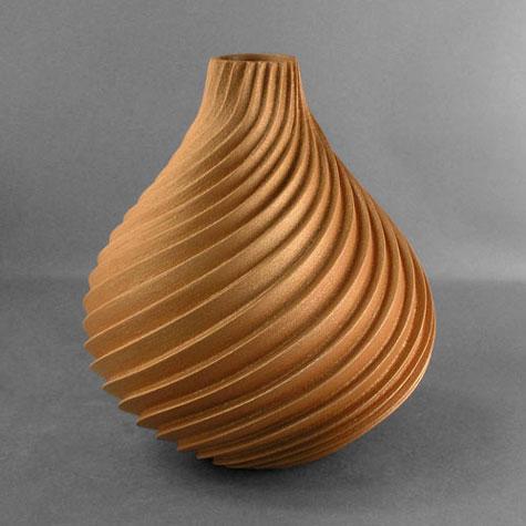 Dominique Toya Swirled Melon Pot from jemez pueblo