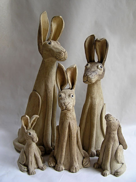 Ceramic Rabbits - Sue Jenkins