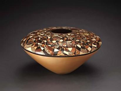 Jacob-Koopee,-Native American Indian ceramic seed jar