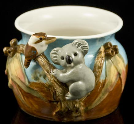 Koala and Kookaburra Vase by Anita Reay