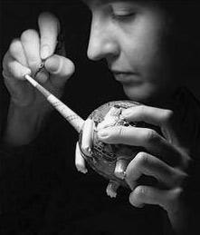 Anya Stasenko painting porcelain figurine