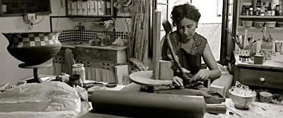 Lidia Serra in her studio
