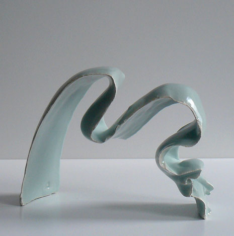 Jean-François Fouilhoux teal green glazed ceramic sculpture