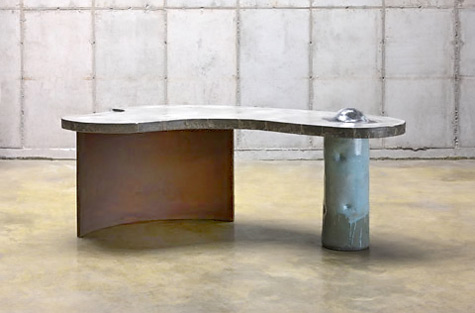 Ceramic,concrete,steel Desk Hun Chung Lee. U201c