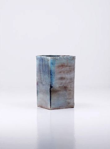 """Skyblue Garden"" vessel in glazed ceramic."