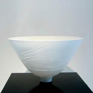 Arnold Annen elegant white porcelain bowl