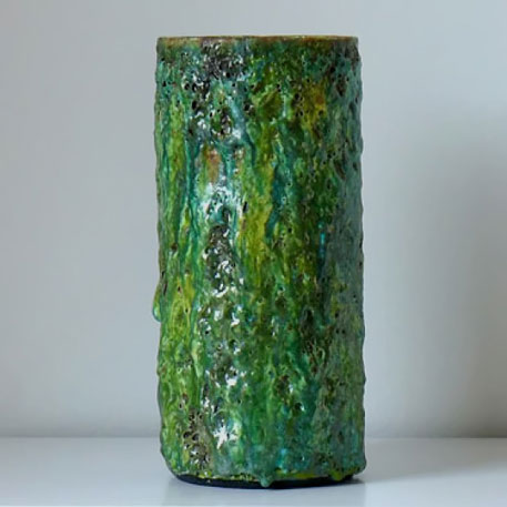 Morten Løbner green textured ceramic vase