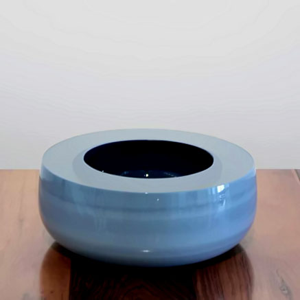 Tora Urup-Danish contemporary ceramic vessel pale blue glaze