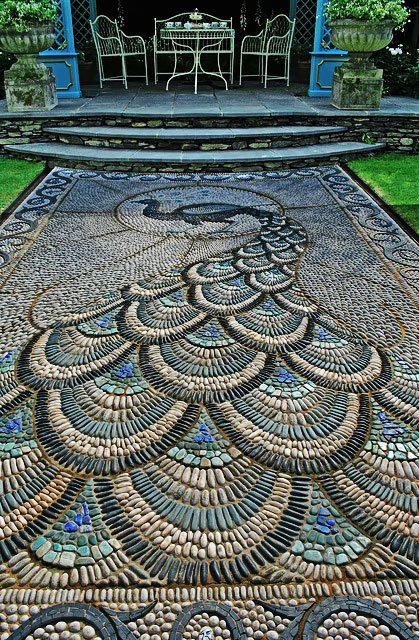 Chelsea Flower Show Mosaic peacock path
