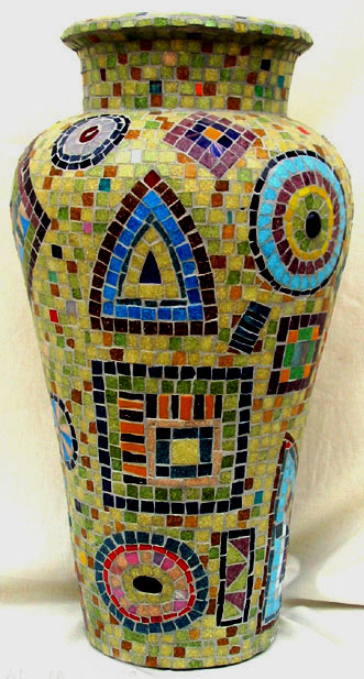 Abstract Mosaic Vase - Irinia Charny