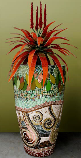 Large Mosaic Clad Planter - Obbligato Decor