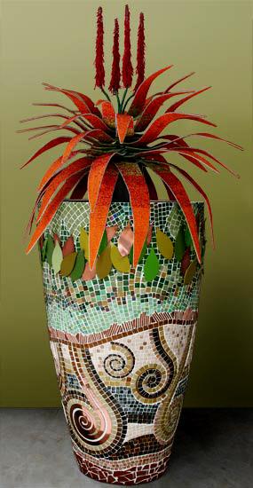 Large Mosaic Clad Planter - Obbligato Decor
