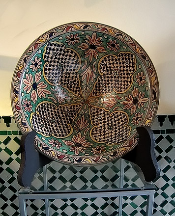 moroccan dish - geometric patterns